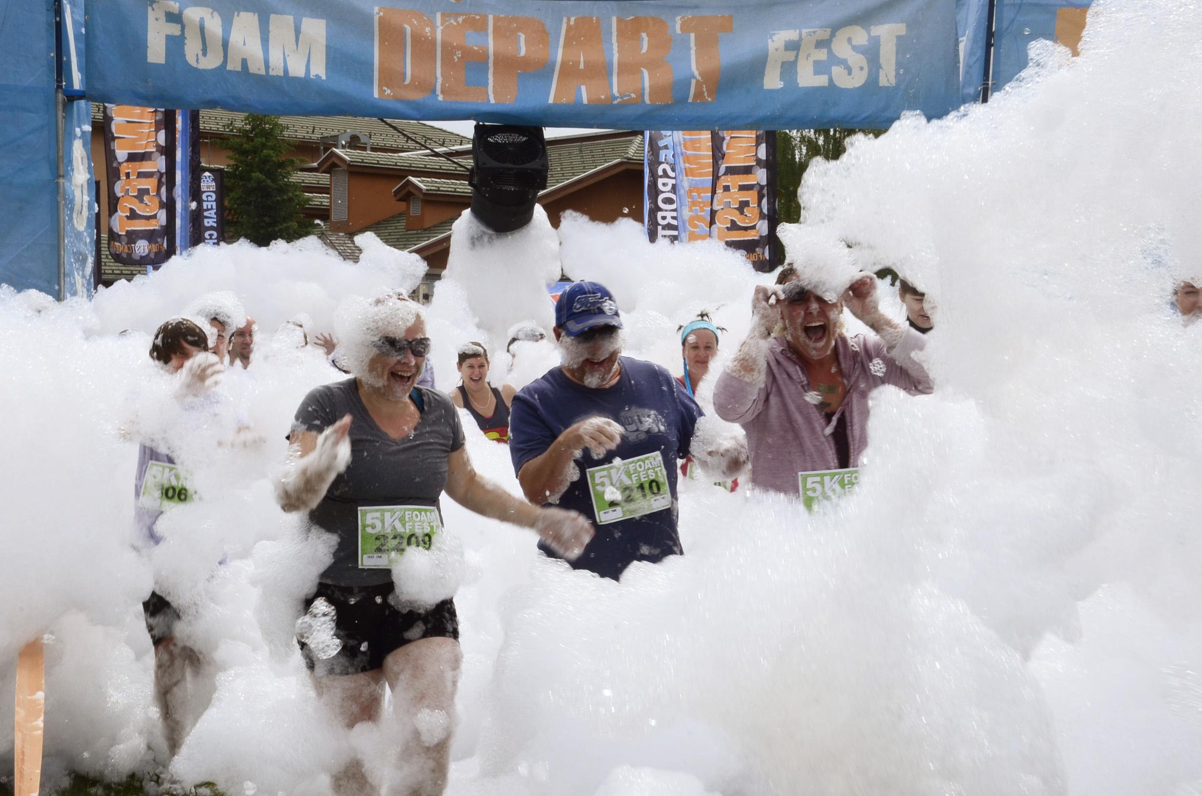 The 4,500 participants in 5K Foam Fest were a part of a very busy spring. - Photo Jamie Shinkewski