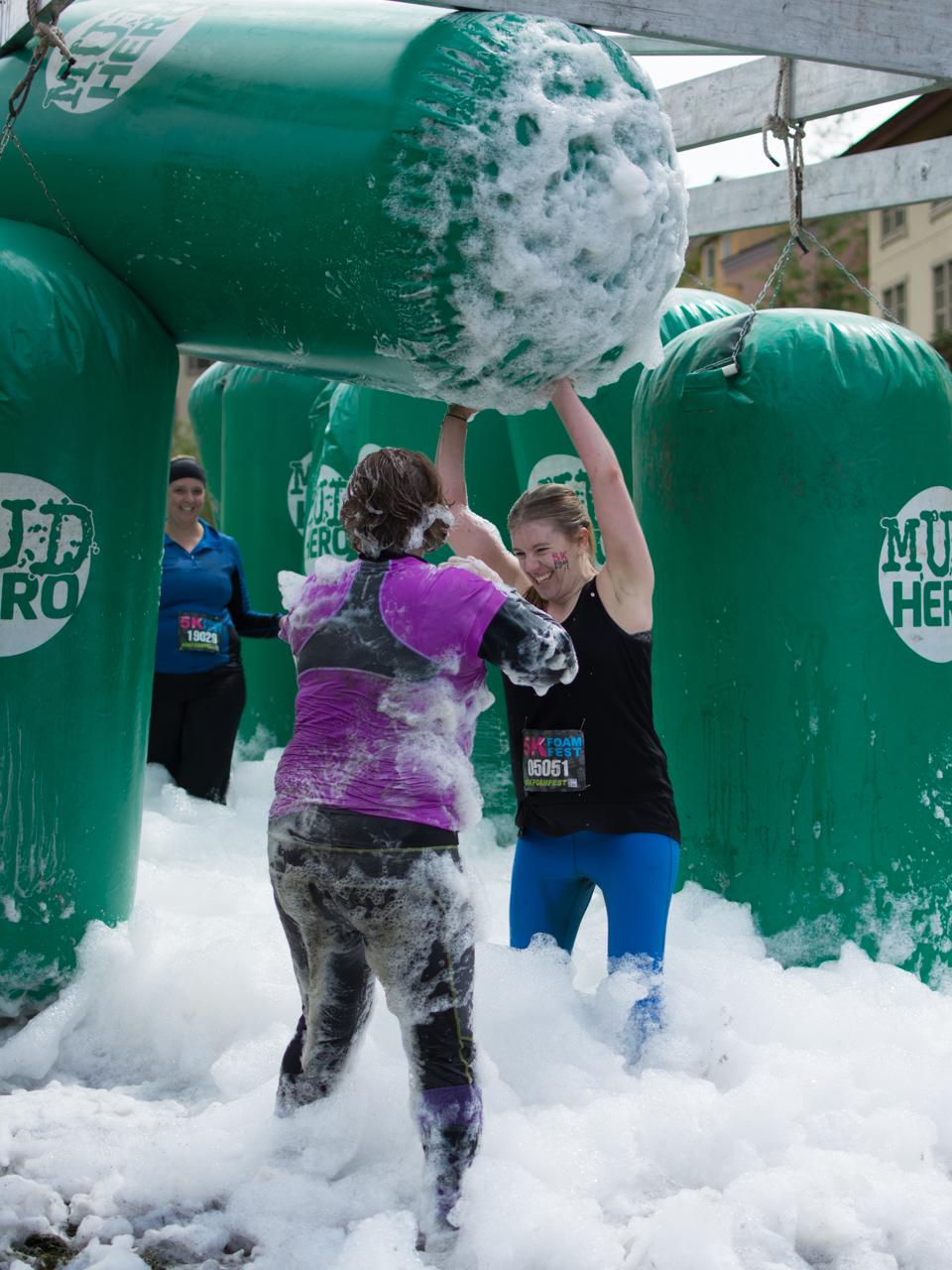 5k foam fest in photos